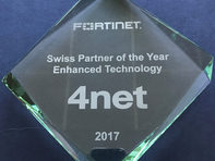 4net Fortinet Swiss Partner of the Year Enhanced Technology