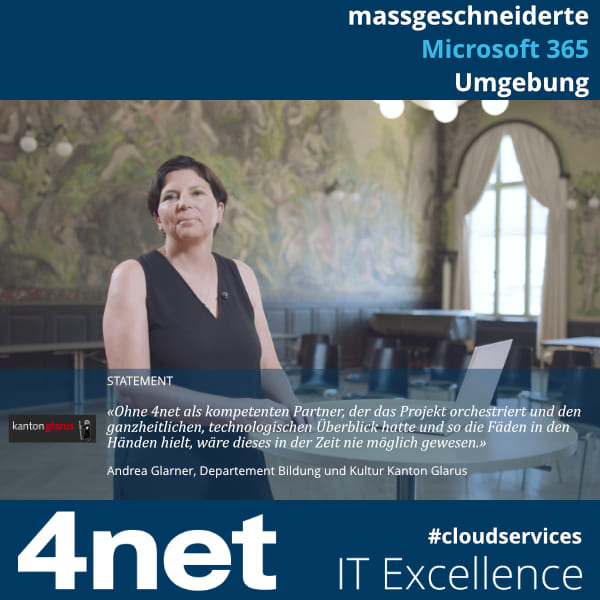 Kanton Glarus Microsoft 365 | Blog Post 4net Referenz